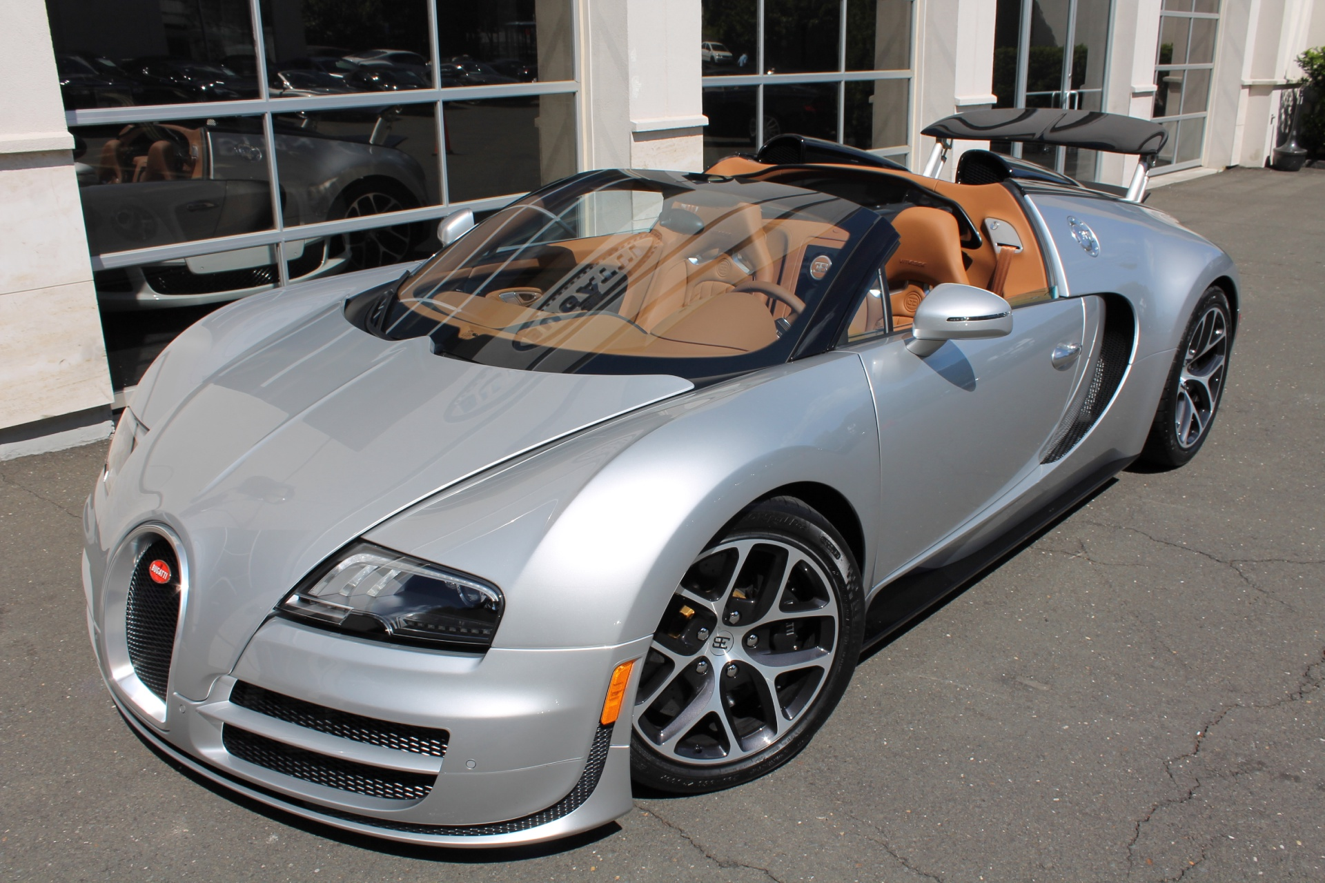 two bugatti veyron grand sport vitesse's for sale at u.s. dealer