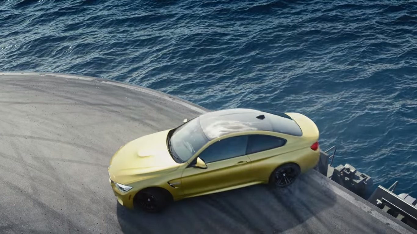 Video Bmw M4 Drifting On Aircraft Carrier Gtspirit