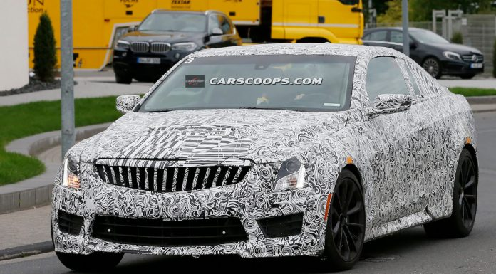 New Cadillac ATS-V Coupe Spied at the Nurburgring