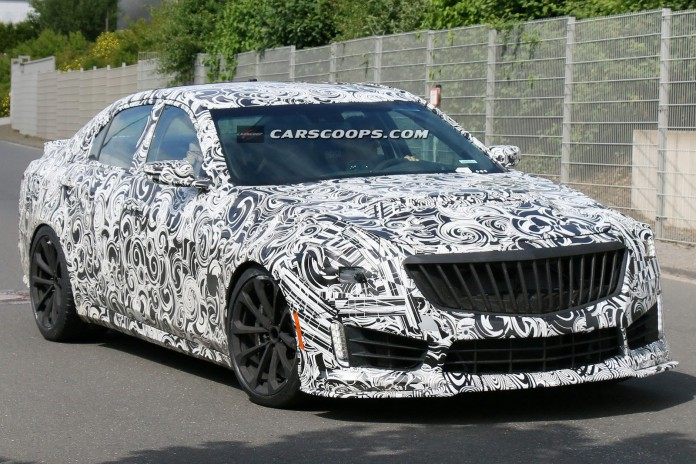 Super Aggressive 2016 Cadillac CTS-V Tests at the Nurburgring
