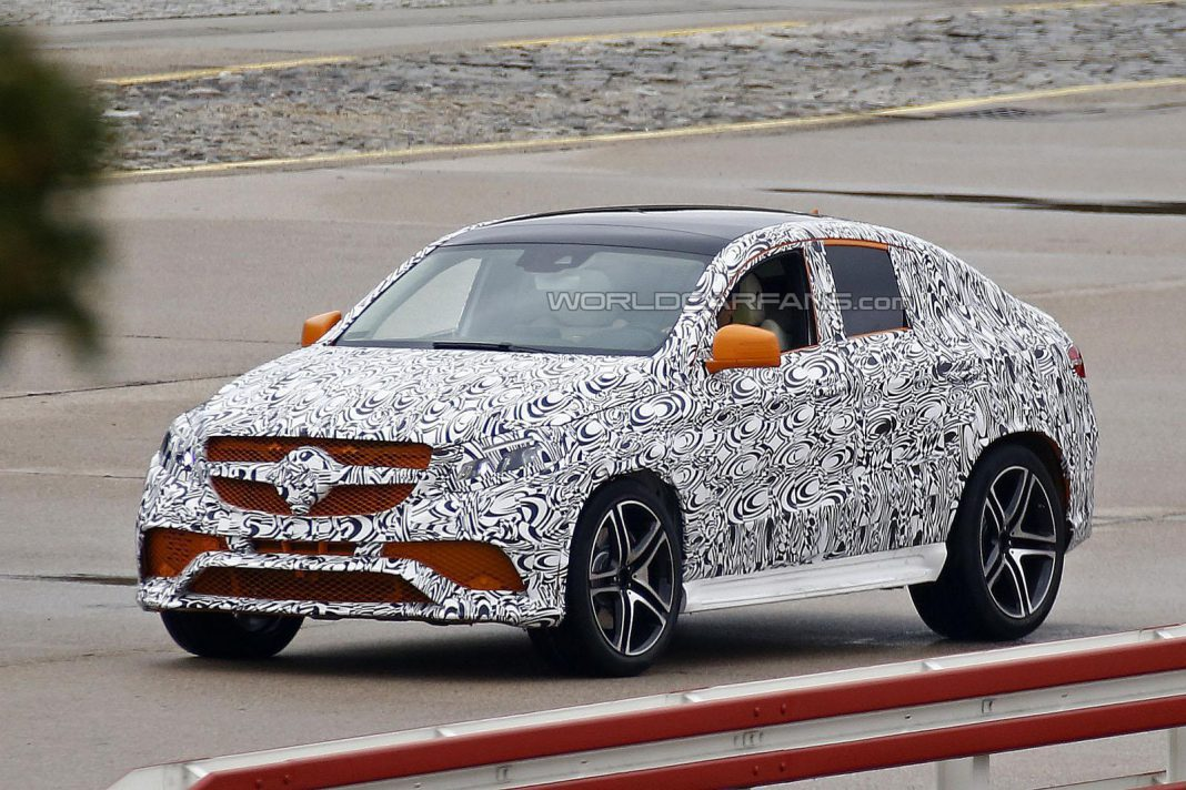 Mercedes-Benz ML 63 AMG Coupe Testing With Orange Accents