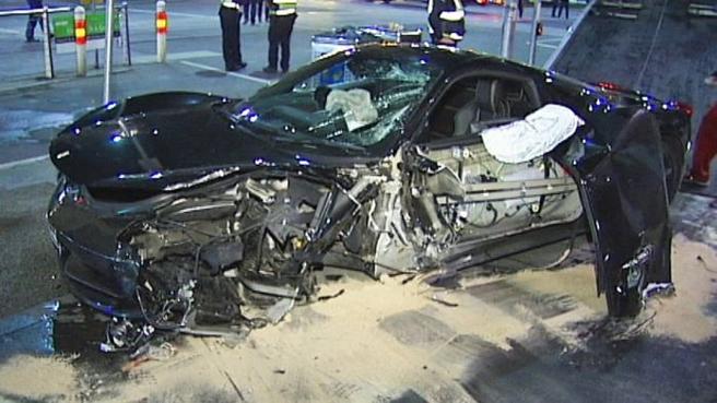 Ferrari 458 Italia Destroyed in Melbourne Crash