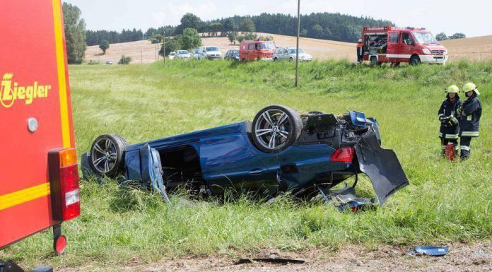 BMW M5 Crashes Heavily in Hungary