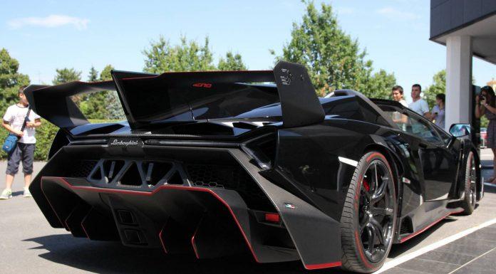 Black Lamborghini Veneno Roadster