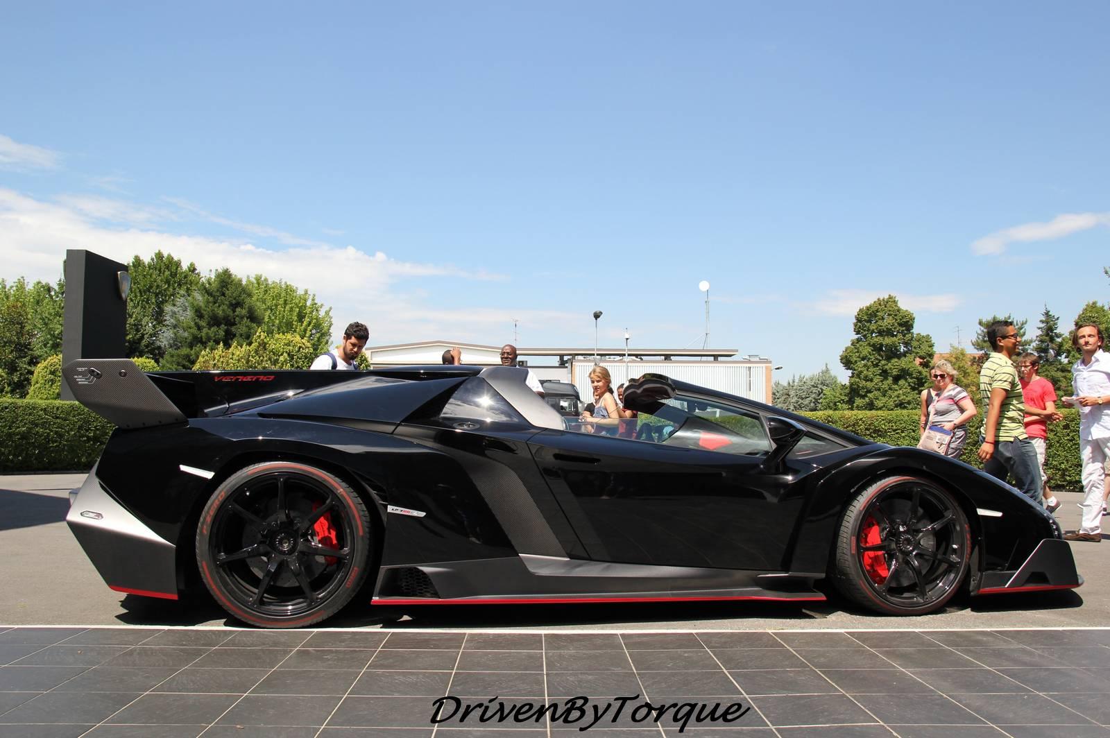 Black Lamborghini Veneno Roadster At Lamborghini Factory