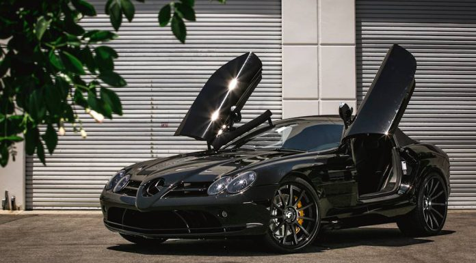Black Mercedes-Benz SLR McLaren Roadster with Forgiato Wheels