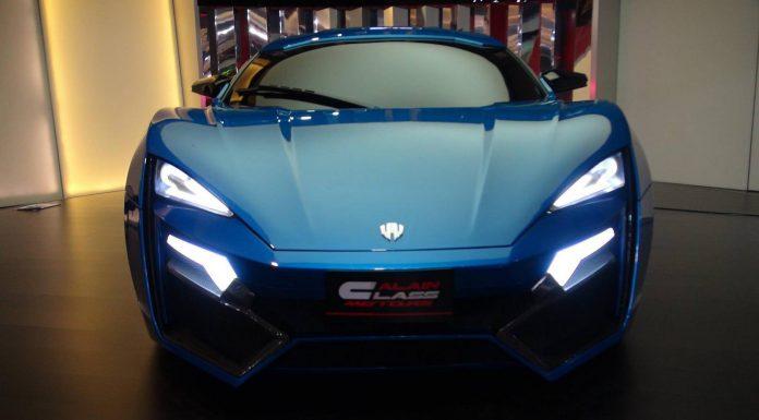 Blue Lykan Hypersport in Dubai