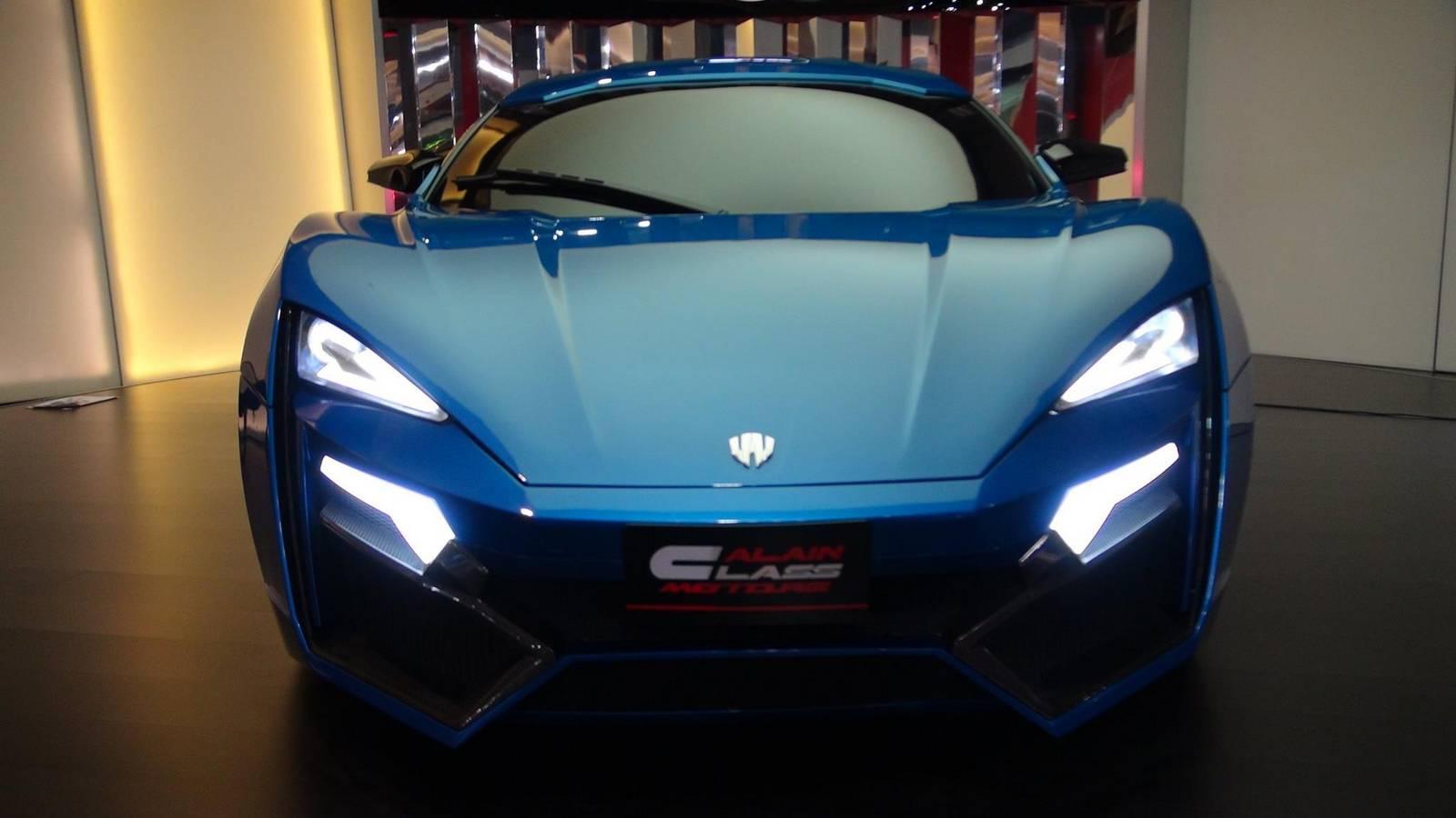 Blue Lykan Hypersport at Al Ain Class Motors in Dubai - GTspirit