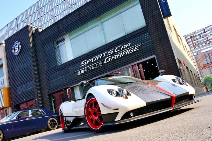 Pagani Zonda Cinque Fitted With Red Forgiato Wheels!