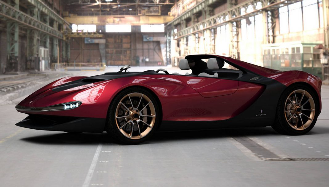 Pininfarina Sergio Concept Being Displayed at London Ferrari Dealership