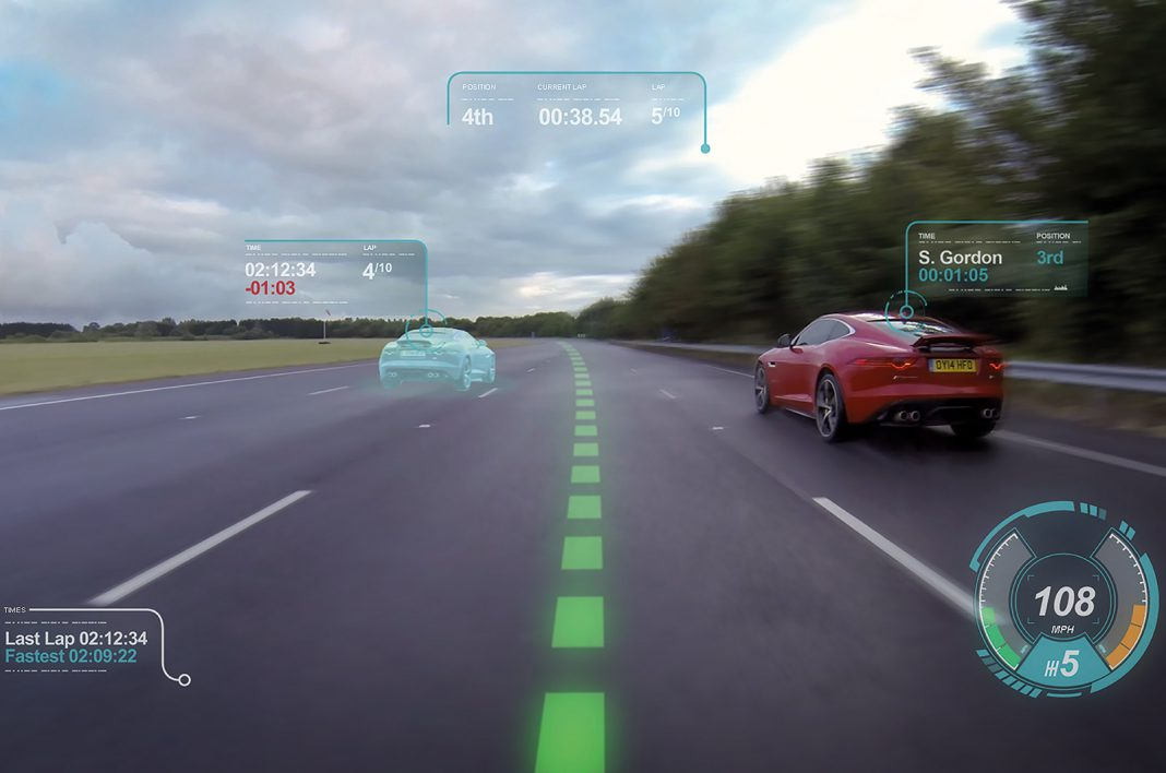 Jaguar Reveals Virtual Windscreen and Other Technologies