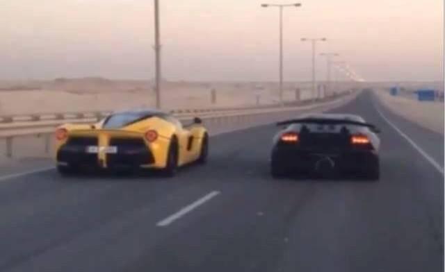 Ferrari LaFerrari and Lamborghini Sesto Elemento in Qatar