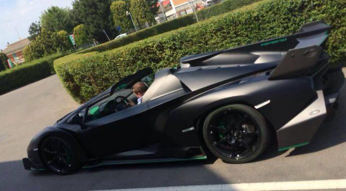 Matt Black Lamborghini Veneno Roadster