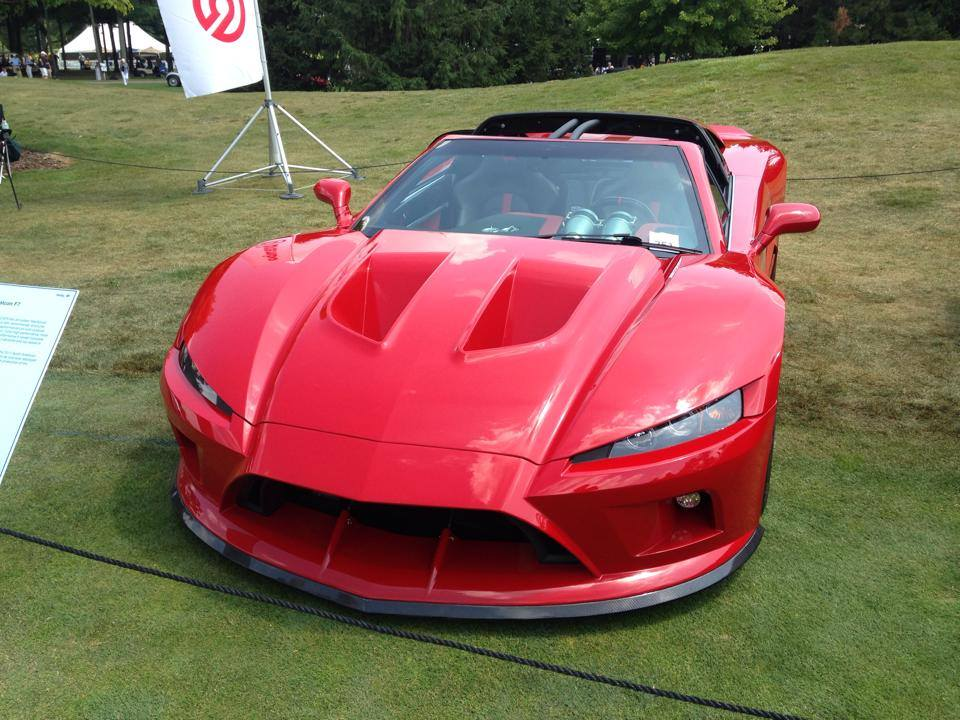 Red Falcon F7 at the 36th Concours d'Elegance of America