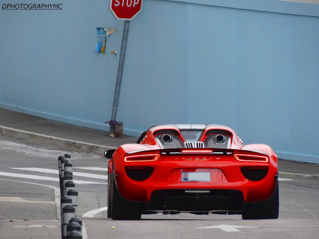 Red Porsche 918 Spyder Spotted in Monaco