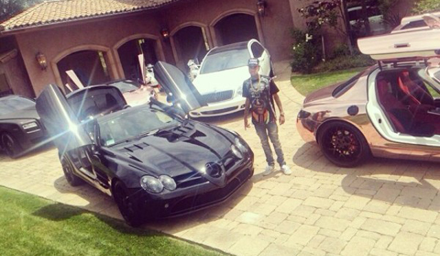 Rapper Tyga Buys Blacked-Out Mercedes-Benz SLR McLaren
