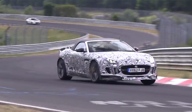 Video: Jaguar F-Type RS Coupe and Convertible Testing at the Nurburgring