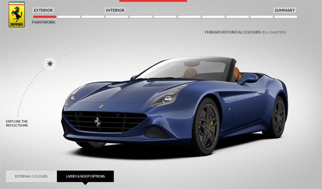 Ferrari California T Online Configurator Launched