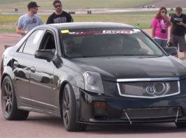 Video: Brutal 1200hp Turbocharged Cadillac CTS-V Hits the Drags!