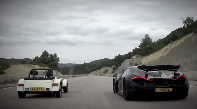 Video: McLaren P1 Shows Tiny Caterham 160R Who's Boss!