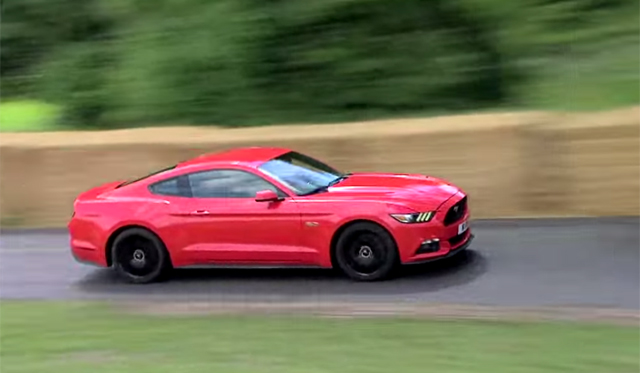 Video: 2015 Ford Mustang Hits Goodwood Hillclimb
