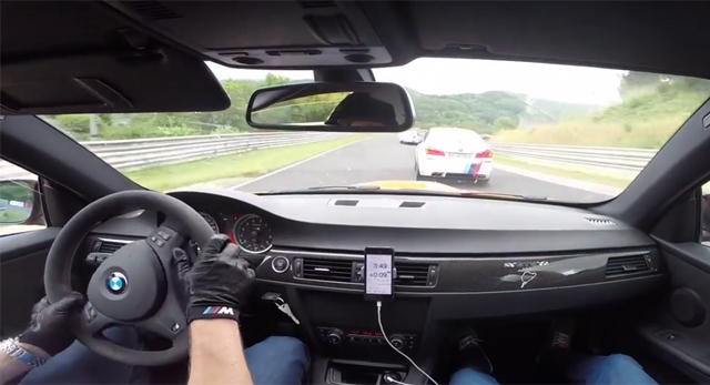Video: BMW M3 GTS vs M5 Taxi at Nurburgring