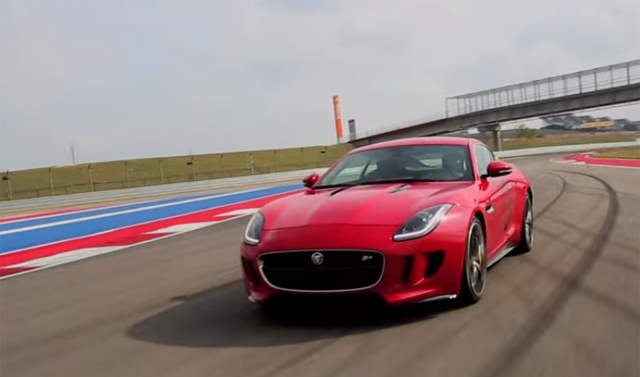 Video: Jaguar F-Type R Coupe Hits Circuit of the Americas