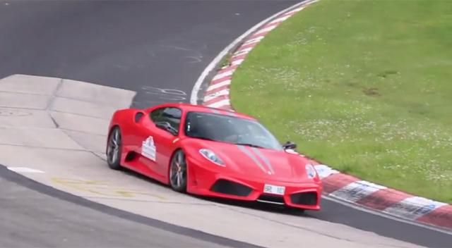 Video: Numerous Ferrari 430 Scuderias at the Nurburgring