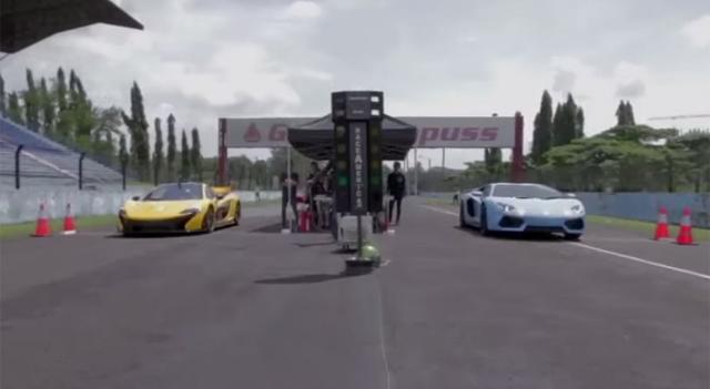 Video: McLaren P1 vs Lamborghini Aventador in Indonesian Drag Race!