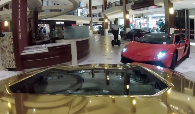 Video: Driving Five Lamborghinis in a Shopping Centre!