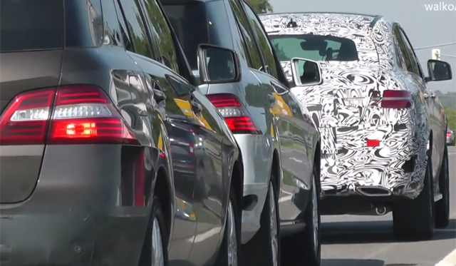 Video: Mercedes-Benz ML Coupe Tests Alongside Facelifted M-Class