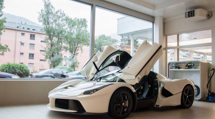 White Ferrari LaFerrari