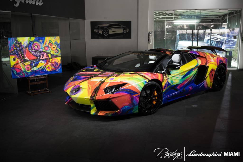 Lamborghini Miami Creates Artistic Aventador Roadster Gtspirit
