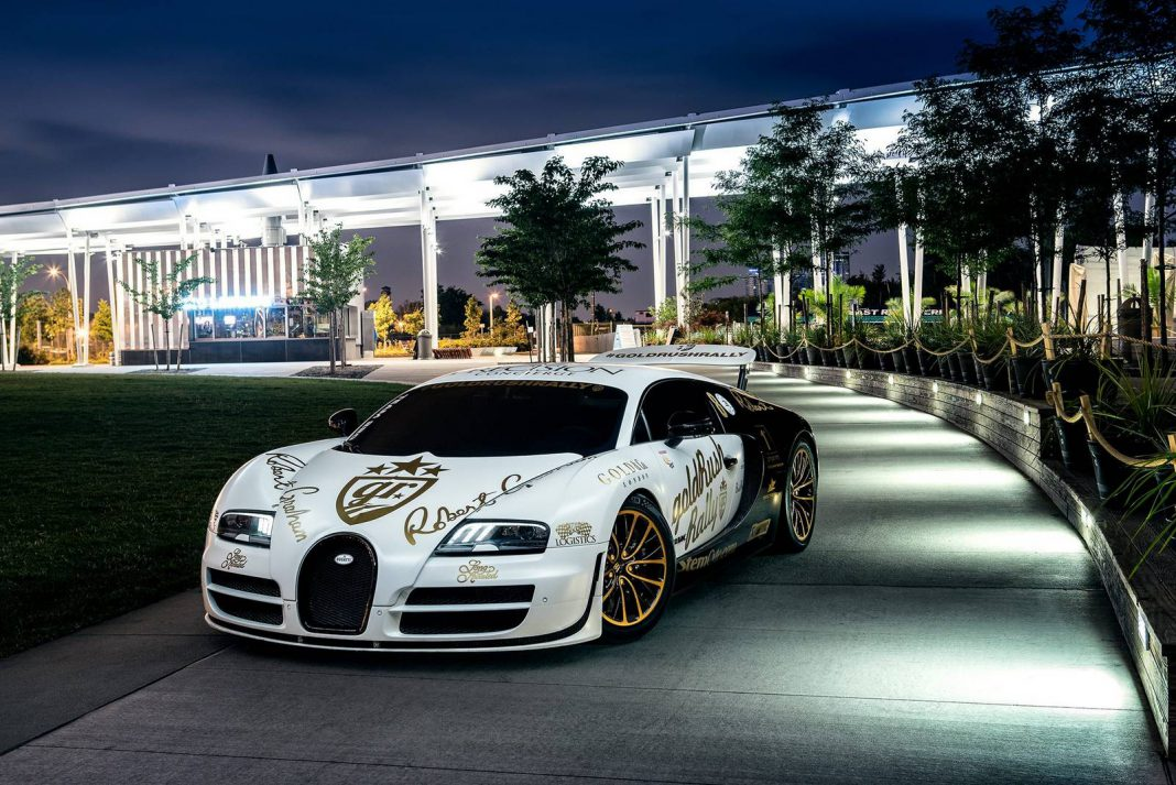 goldRush Rally Bugatti Veyron Supersport Pur Blanc in NYC