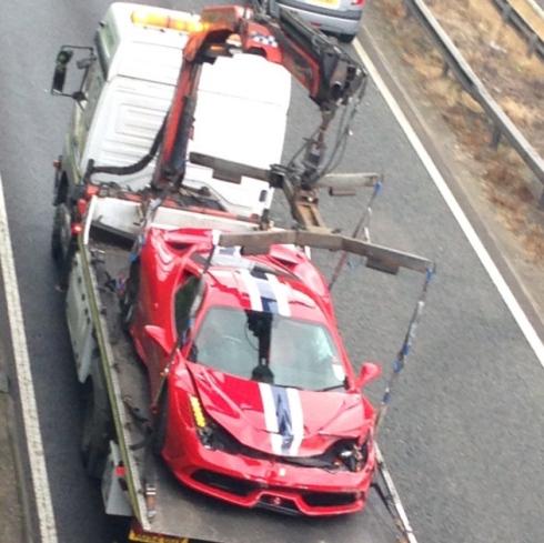 Ferrari 458 Speciale Crashes in the U.K.
