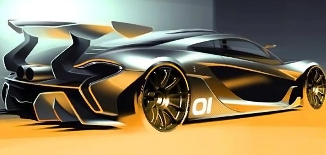 Official McLaren P1 GTR Rendering Revealed