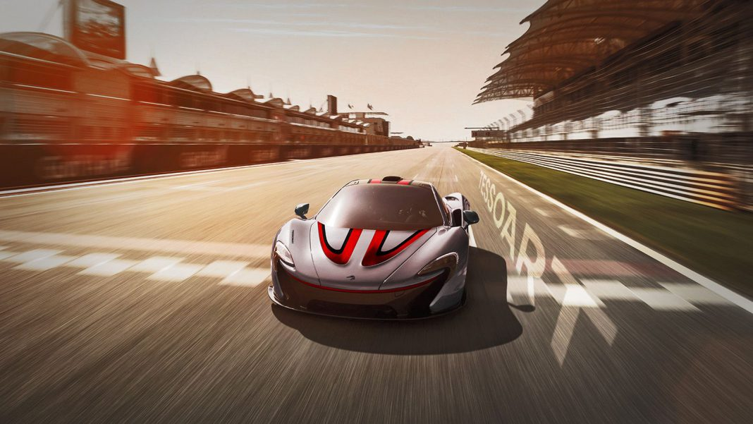 McLaren P1 With Formula One Livery Rendered