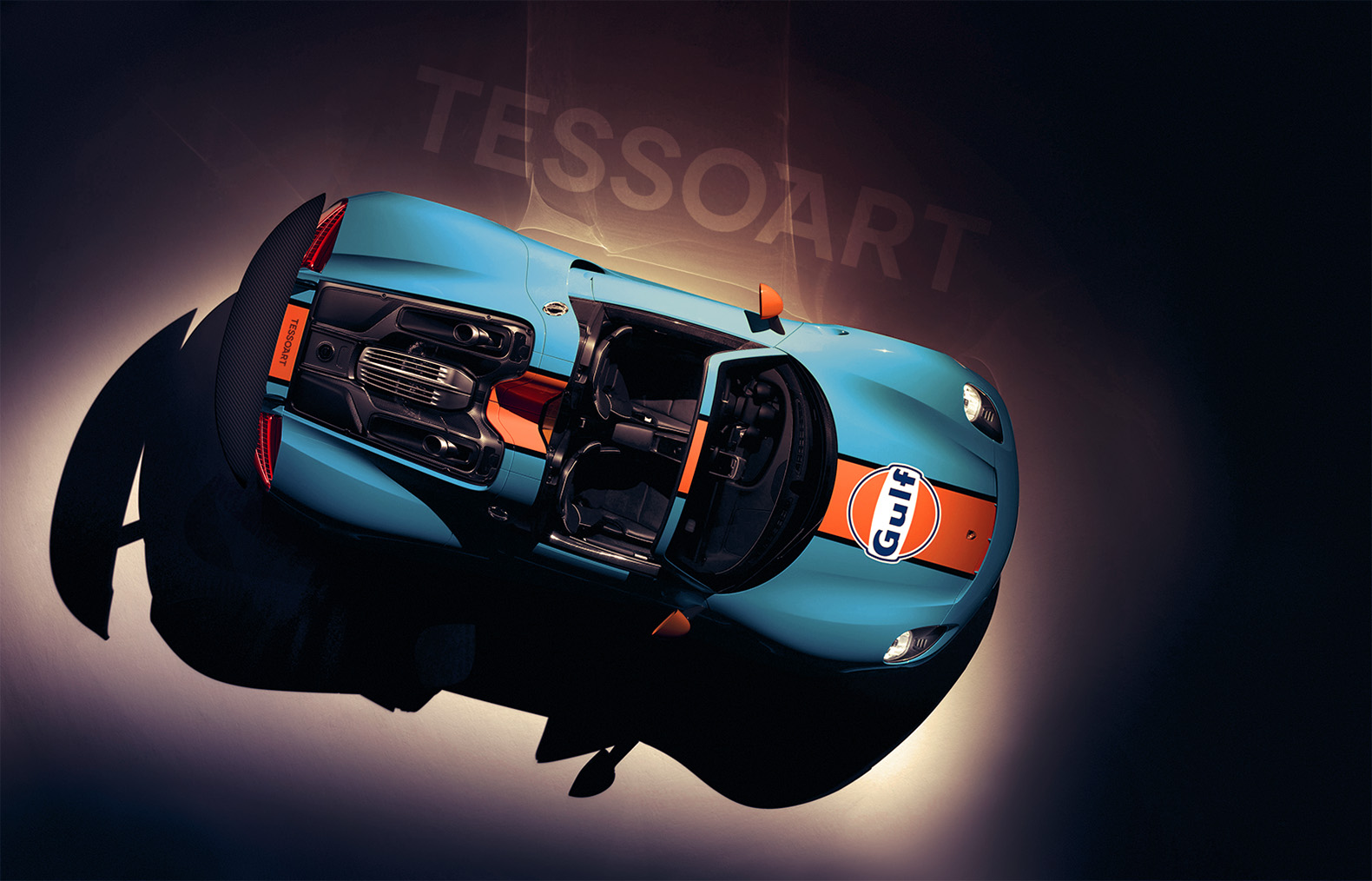 porsche 918 spyder with gulf livery imagined gtspirit. Black Bedroom Furniture Sets. Home Design Ideas