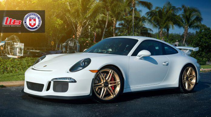 Gorgeous Porsche 991 911 GT3 on Gold HRE Wheels