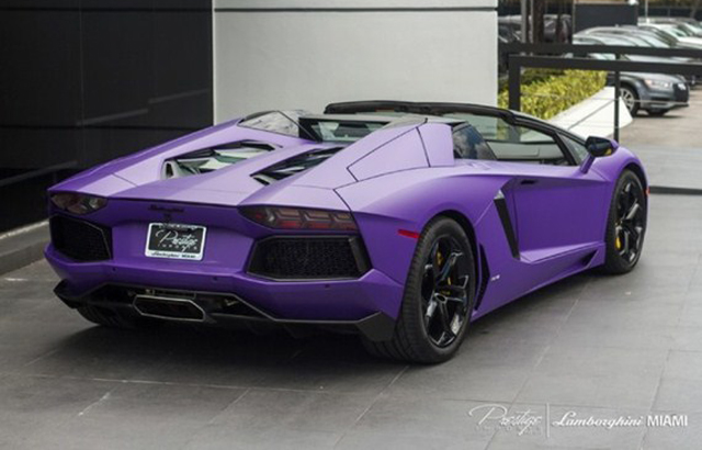 Unique Matte Purple Lamborghini Aventador Roadster For Sale Gtspirit