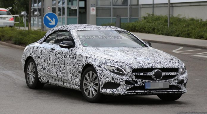 Mercedes-Benz S-Class Cabriolet Spied Up Close