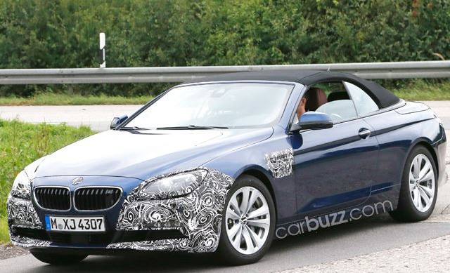 Facelifted BMW 6-Series Cabriolet Spied Testing
