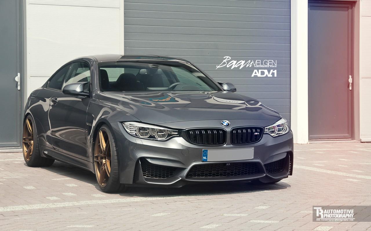 BMW M4 On Golden ADV1 Wheels