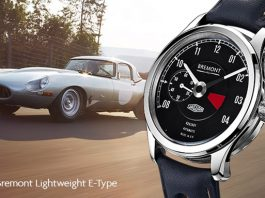 Jaguar and Bremont Create Exclusive Watch for Lightweight E-Type Owners