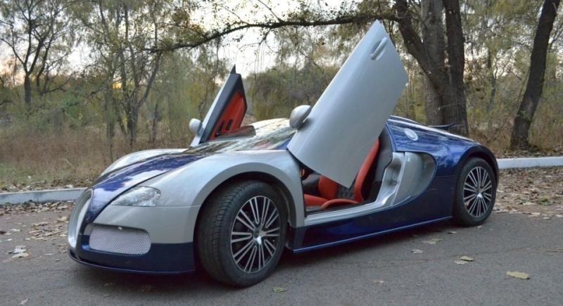 Overkill: Bugatti Veyron Replica with Lamborghini Doors