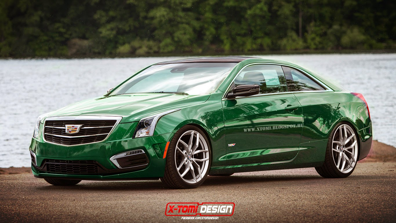 2016 Cadillac Ats V Coupe Rendered Gtspirit