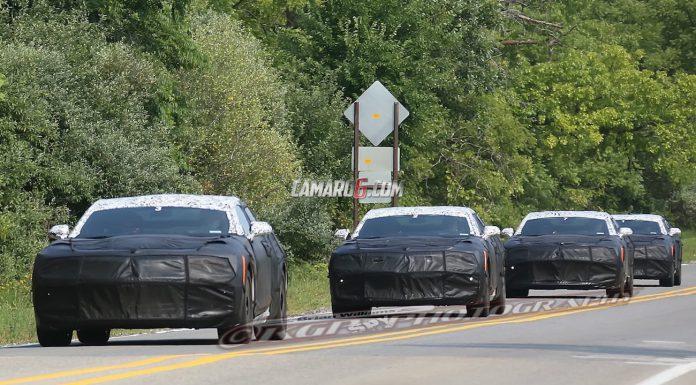Group of 2016 Chevrolet Camaro Prototypes Testing!