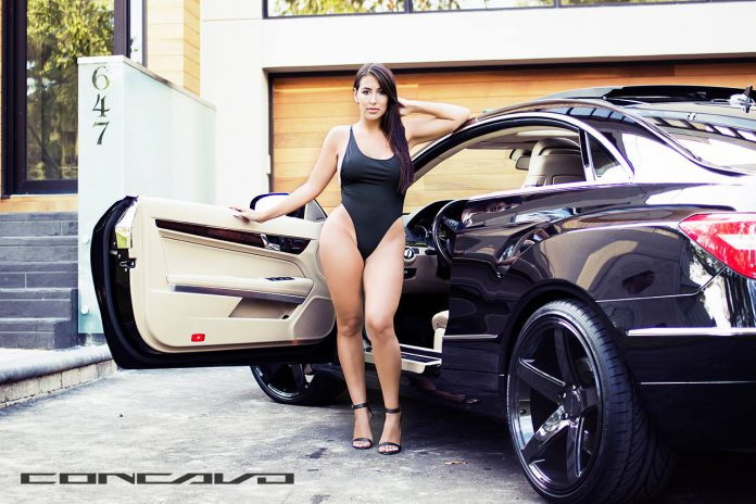 Cars and Girls: Mercedes-Benz E350 Meets Sexy Model