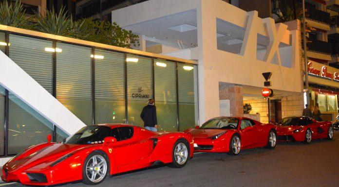 Super Ferrari Combo in Monaco by Night!