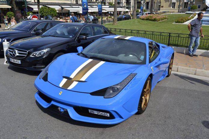 Blue Ferrari 458 Speciale
